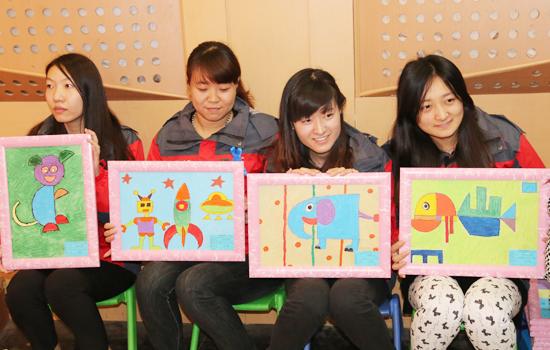 自闭症儿童绘画作品慈善拍卖活动在邯郸广播电视台